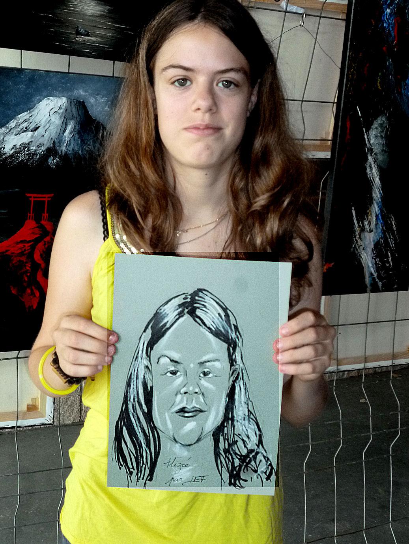 Alizée caricature par Jef
