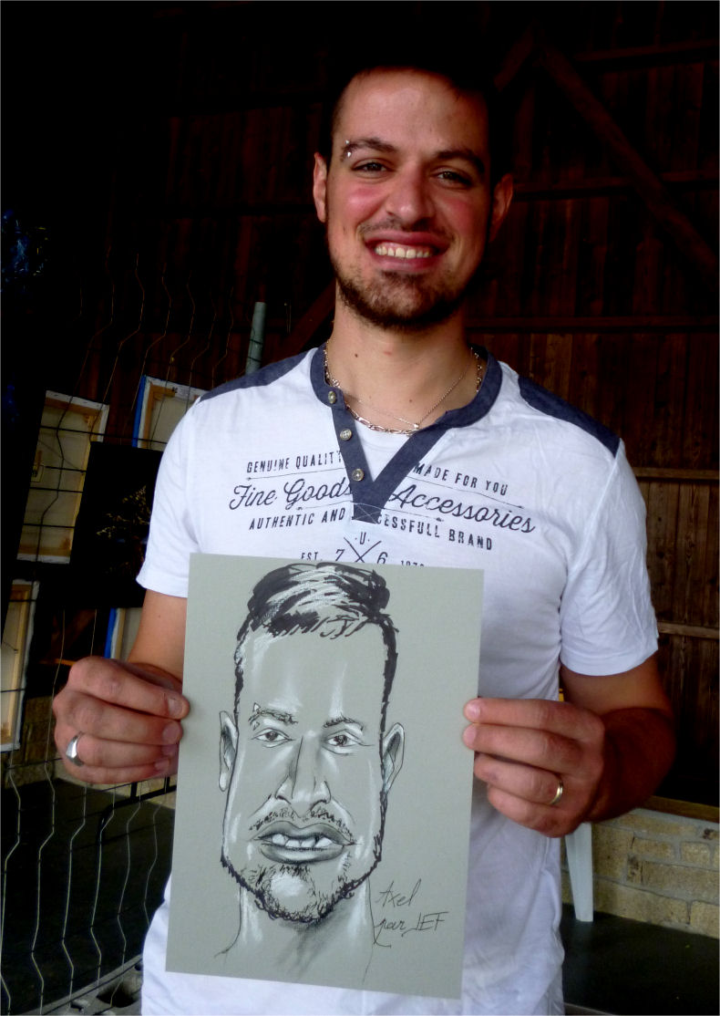 Axel caricature par Jef