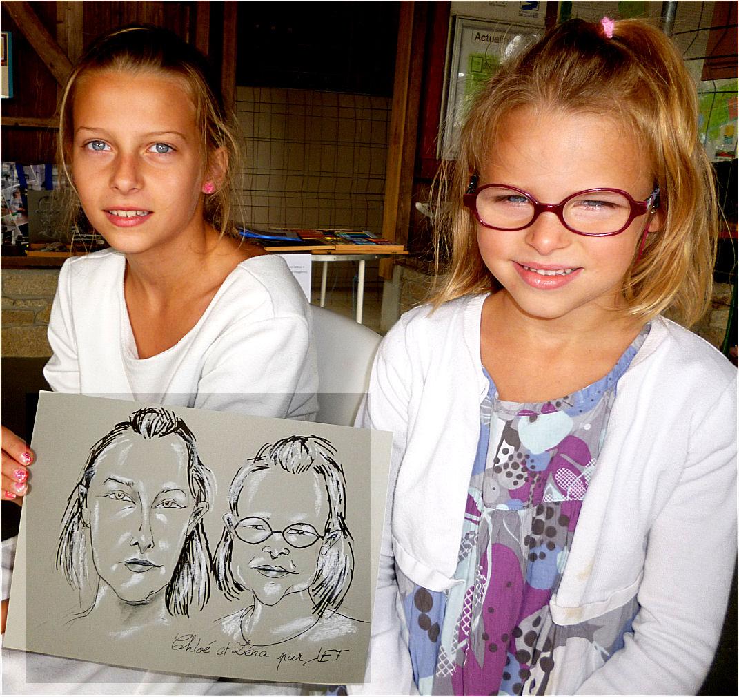 Chloé et Léna caricature de Jef