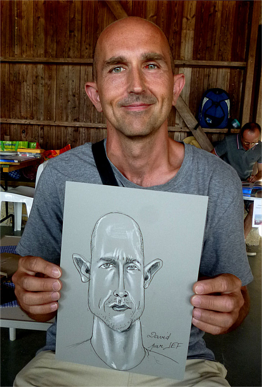 David, caricature de Jef