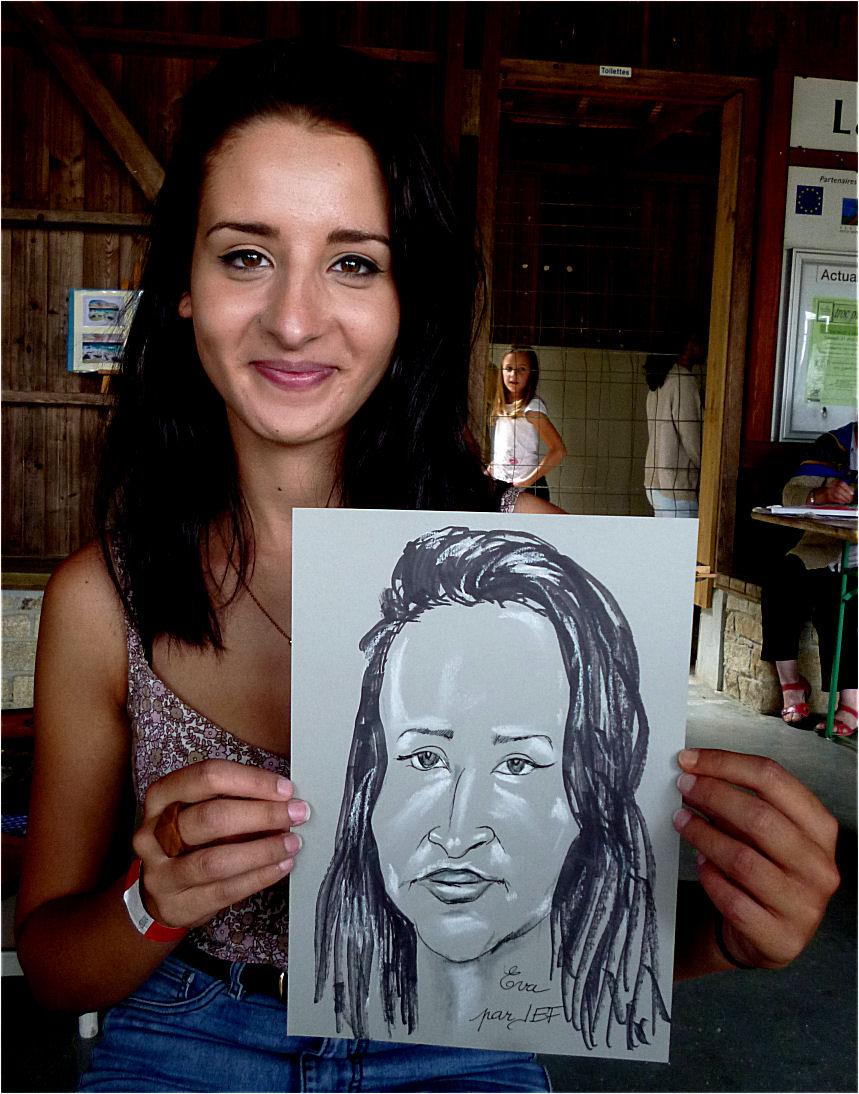 Eva caricature par JEF