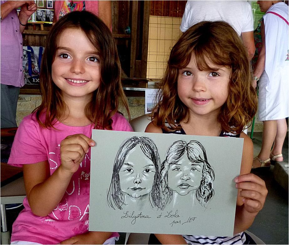 Lilyana et Lola par Jef