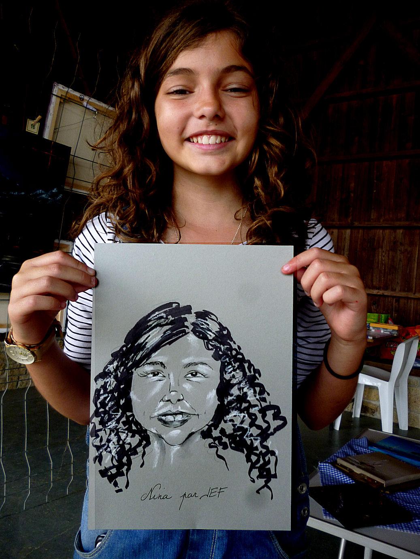 Nina caricature par Jef