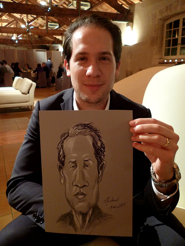 Michaël caricature de JEF