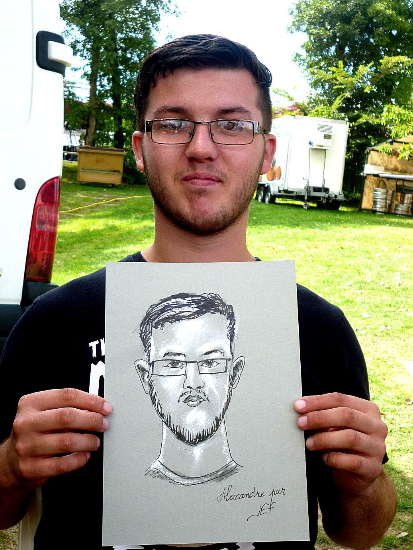 Alexandre caricaturé par JEF