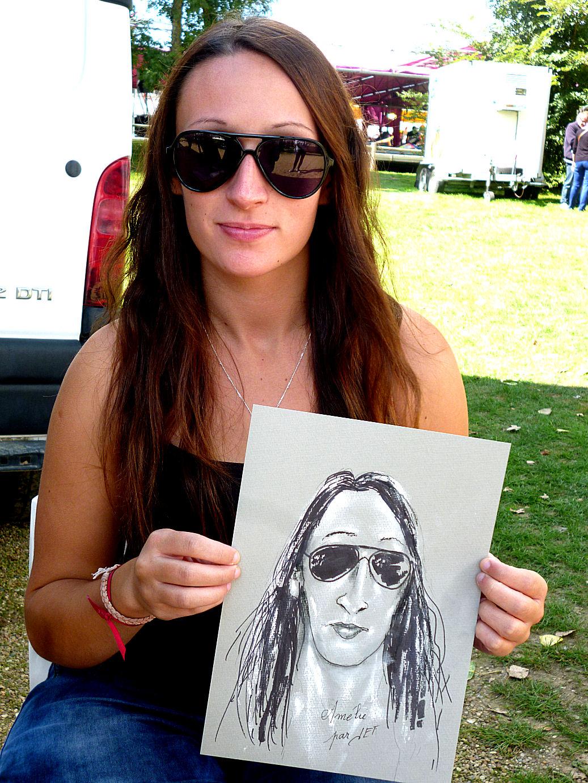 Amélie caricaturée par JEF