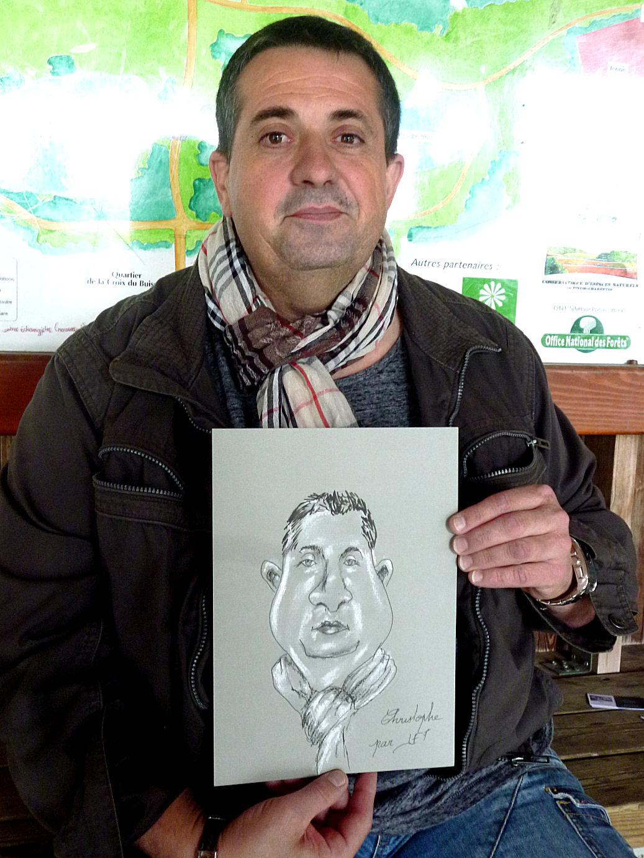 Christophe, caricaturé par JEF