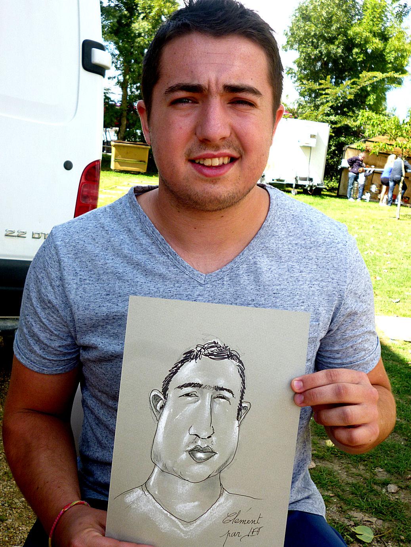 Clément caricaturé par JEF