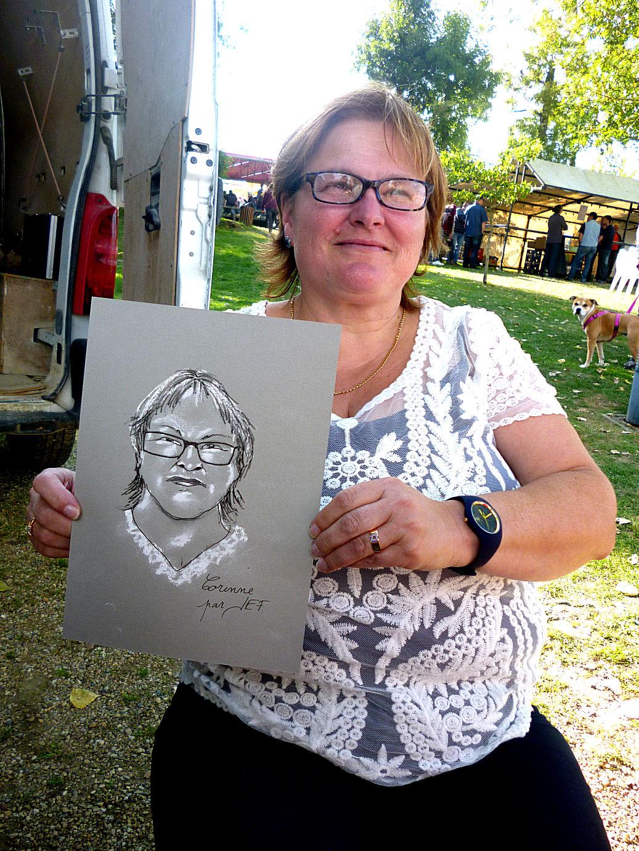 Corinne caricaturée par JEF