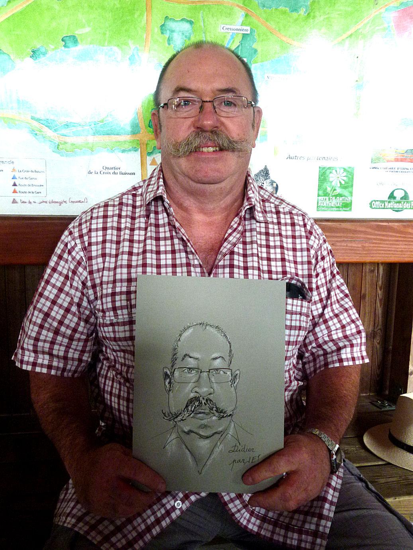 Didier caricaturé par JEF