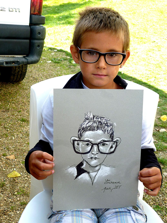 Evann caricaturé par JEF