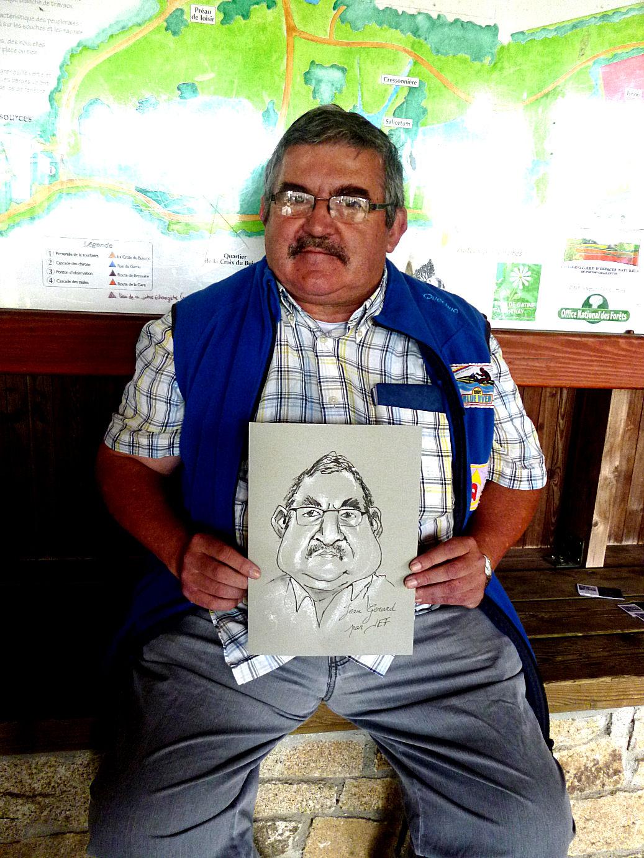 Jean-Gérard caricaturé par JEF