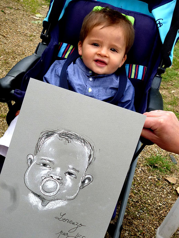 Lorenzo caricaturé par JEF