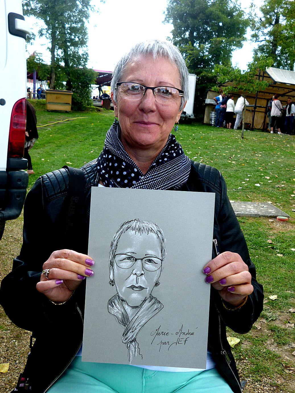 Marie-Andrée caricaturée par JEF