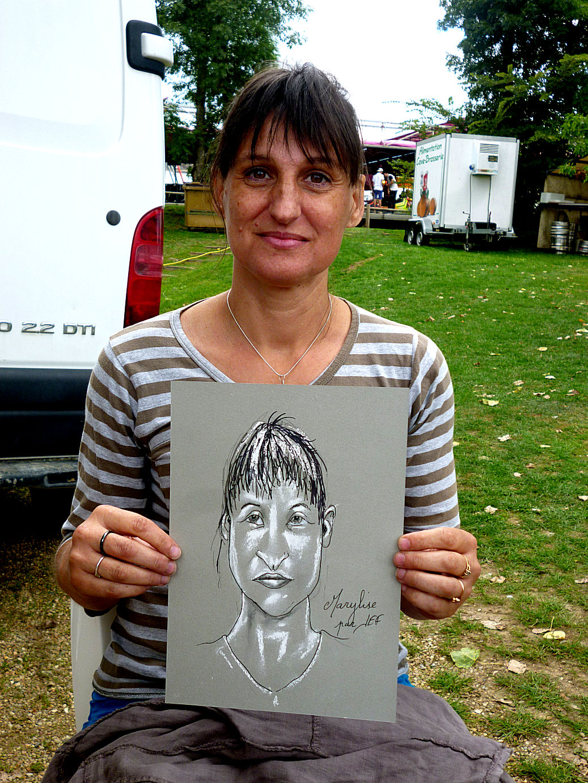 Marylise caricaturée par JEF