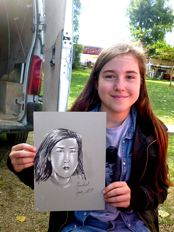 Rachel, caricaturée par JEF