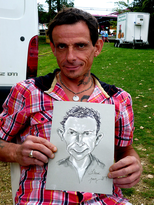 Steve caricaturé par JEF