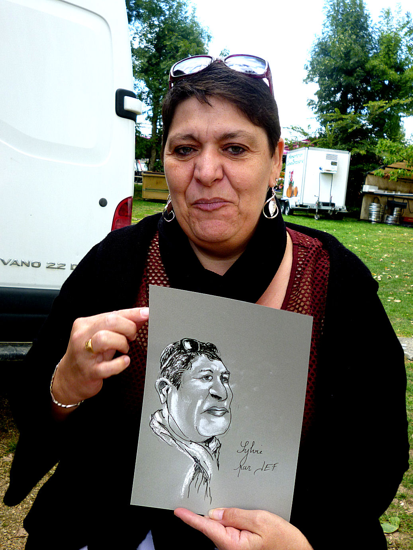 Sylvie caricaturée par JEF