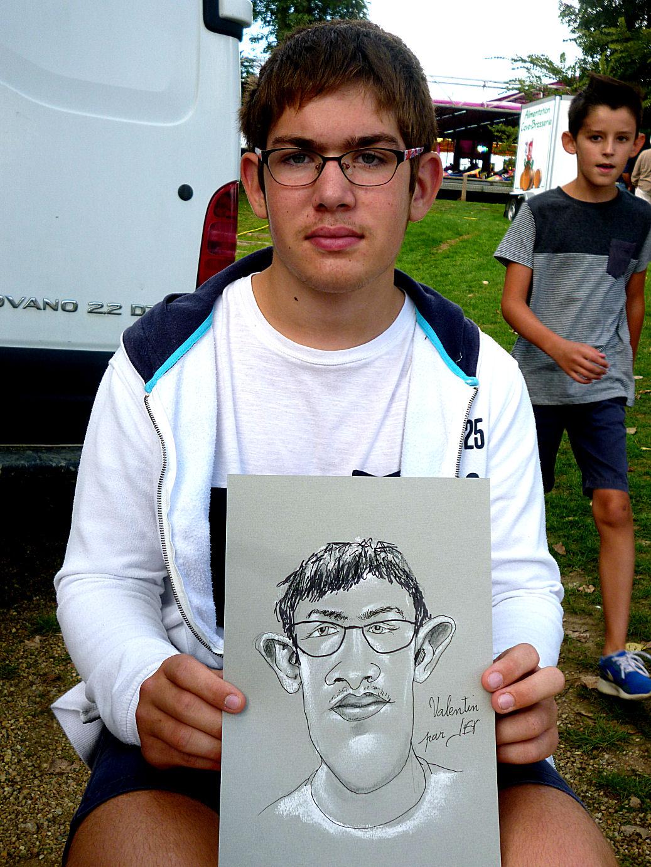 Valentin caricaturé par JEF