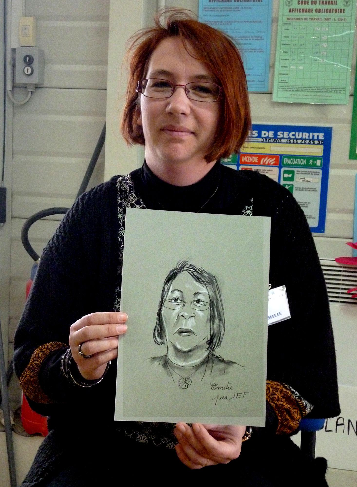 Emilie, caricature par JEF