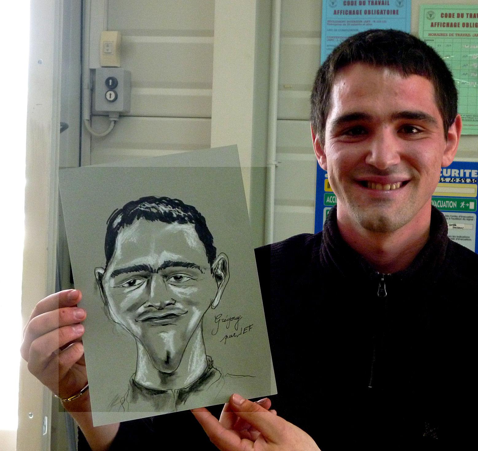 Grégory caricature par JEF