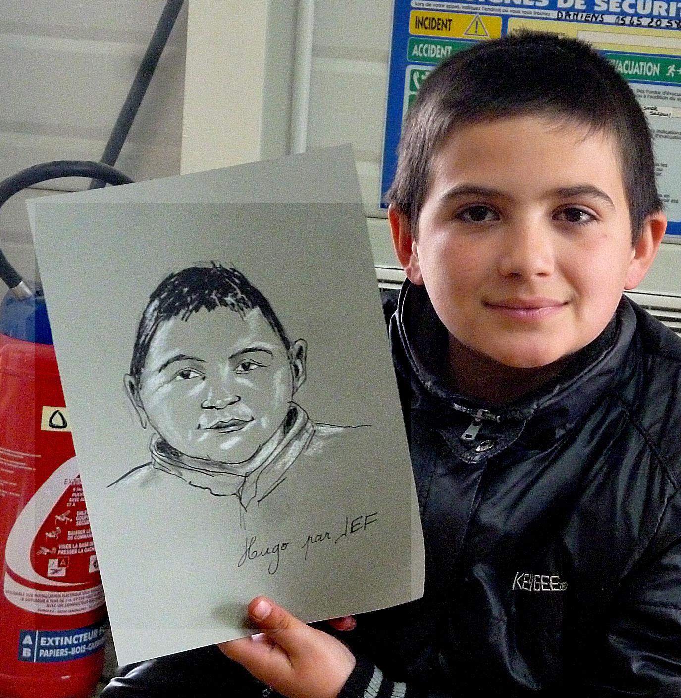 Hogo caricature par JEF