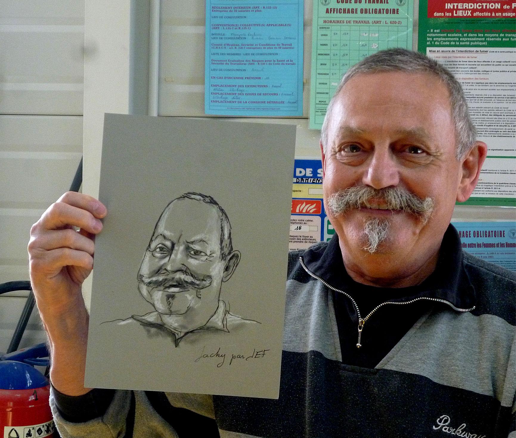 Jacky caricature par JEF