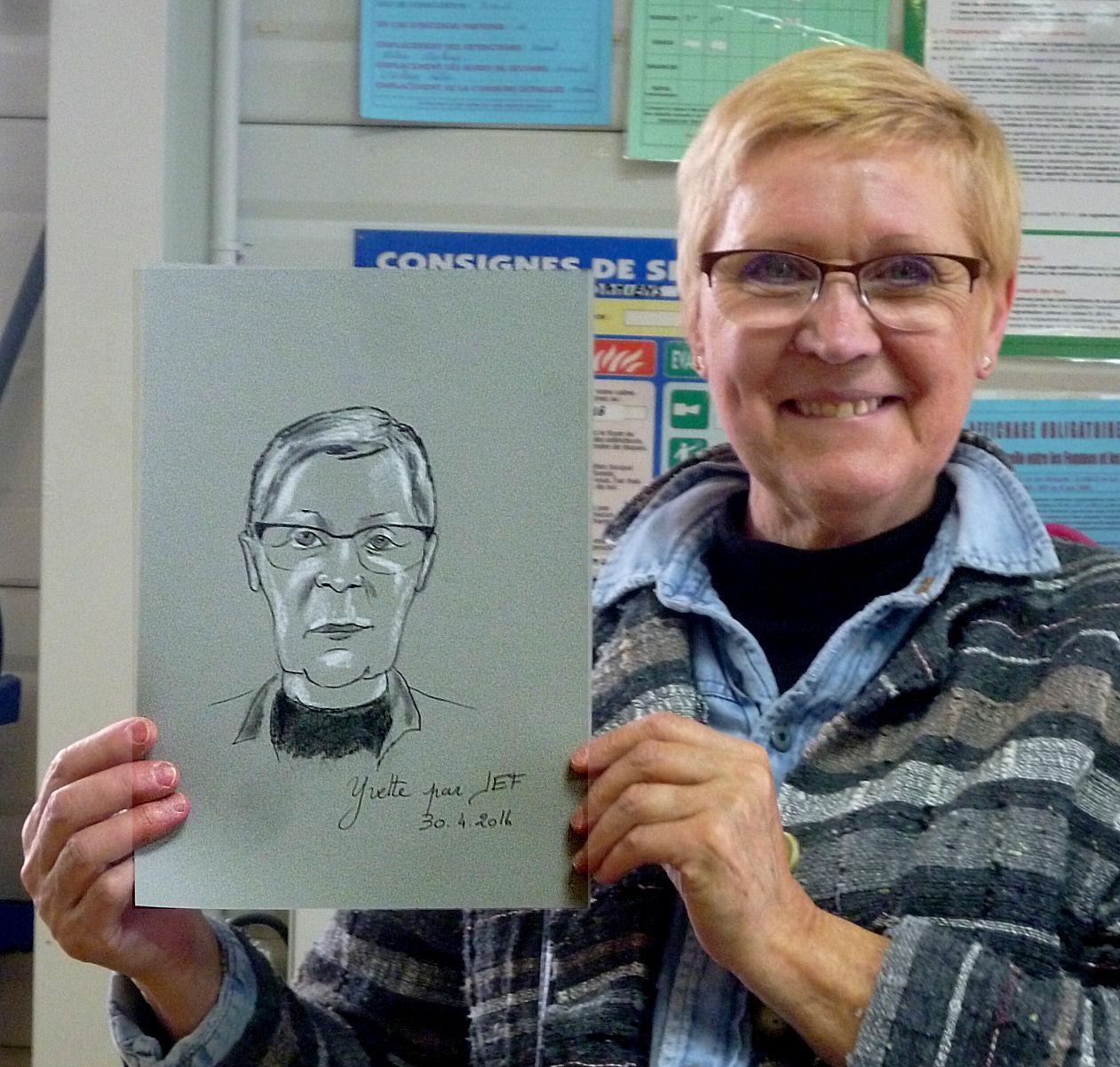 Yvette caricature par JEF