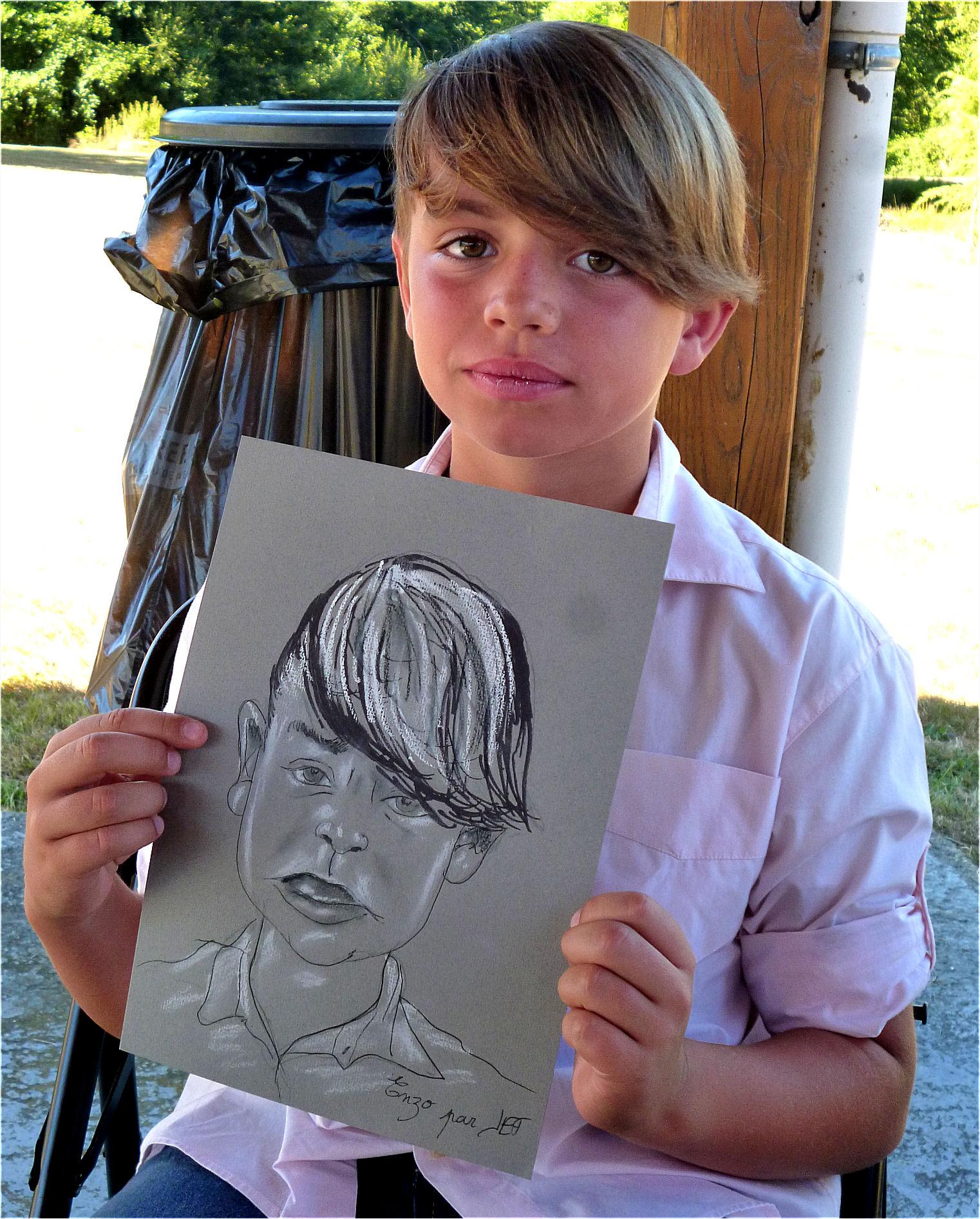 Enzo caricature de JEF