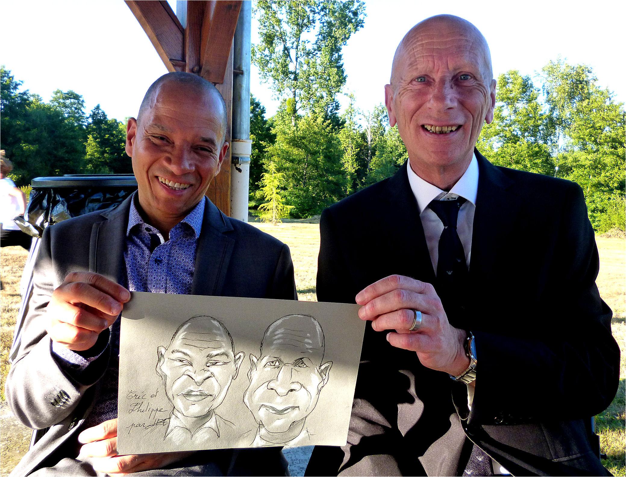 Eric et Philippe caricature de JEF