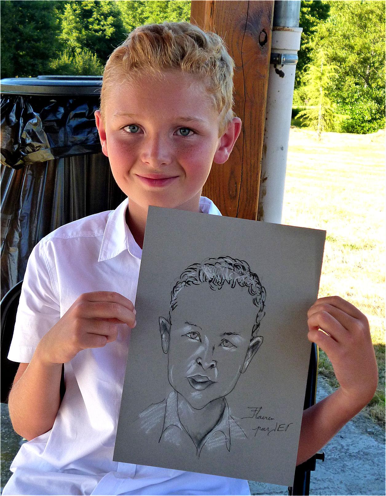 Flavien caricature de JEF
