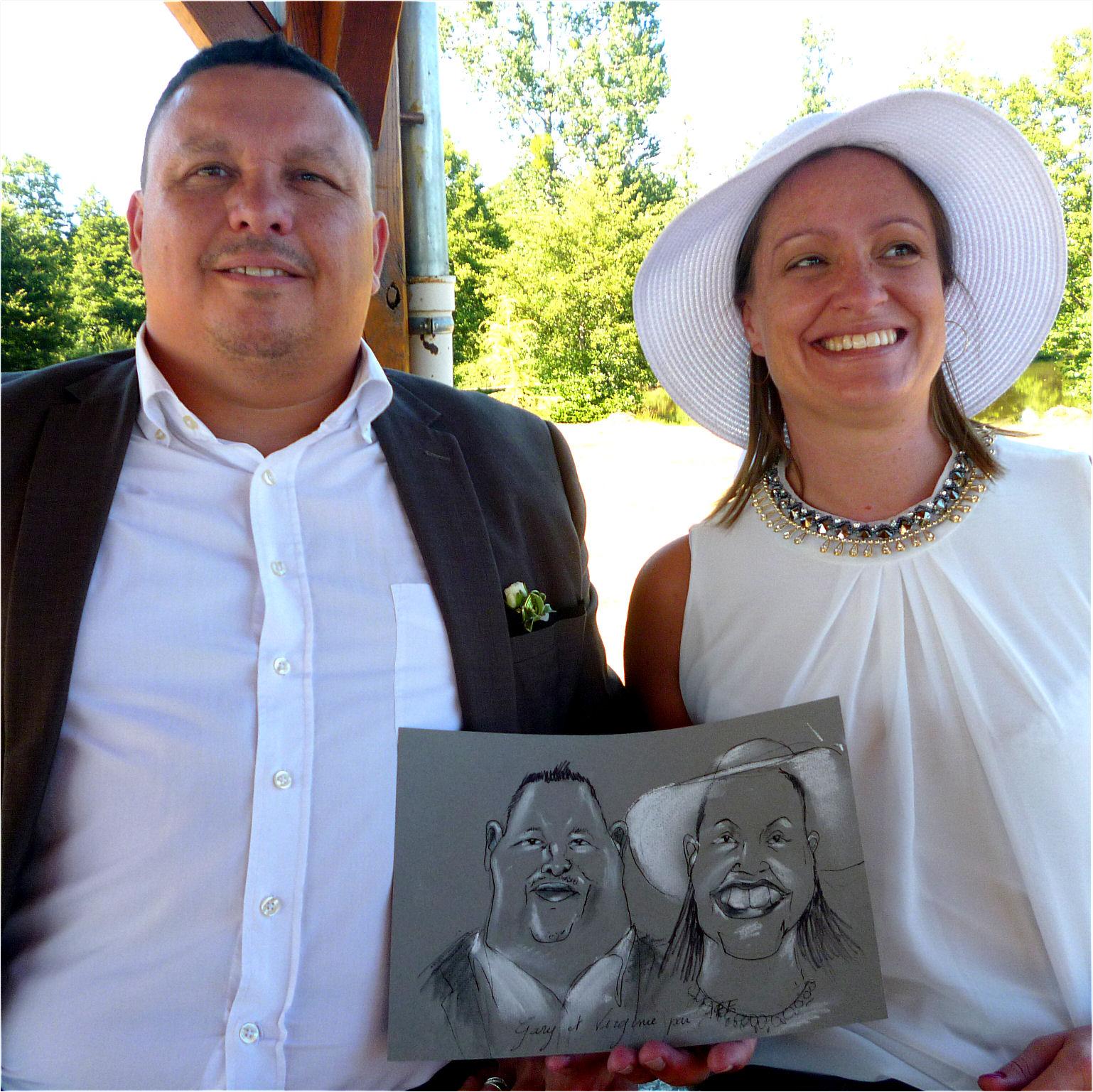 Gary et Virginie caricature de JEF
