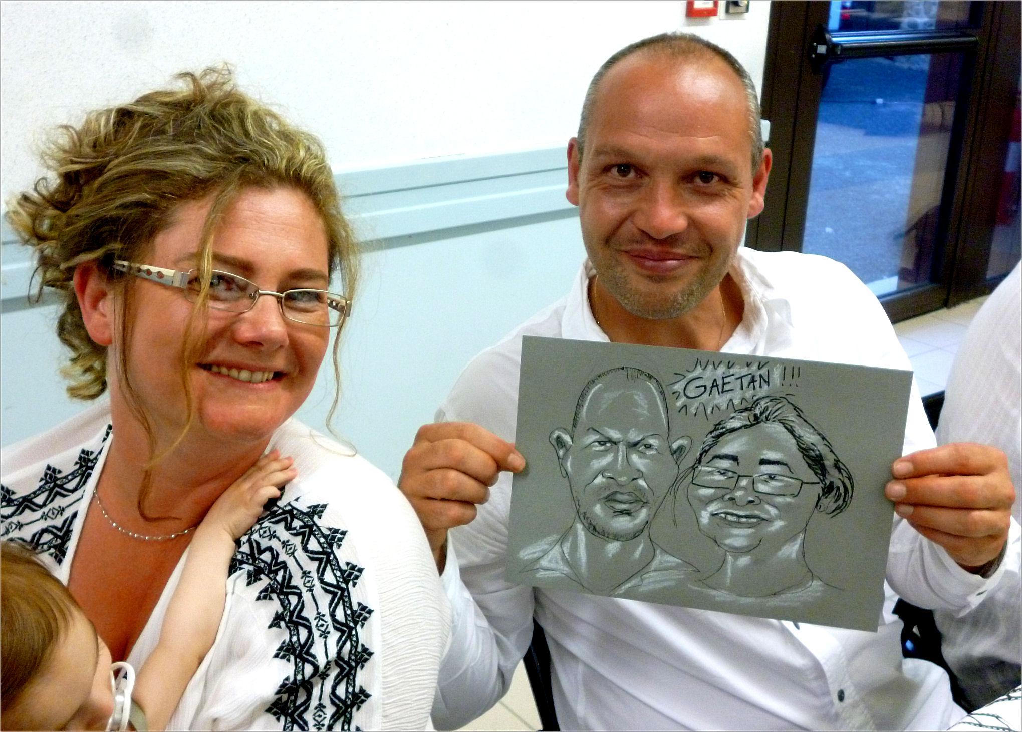 Parents de Gaëtan caricature de JEF