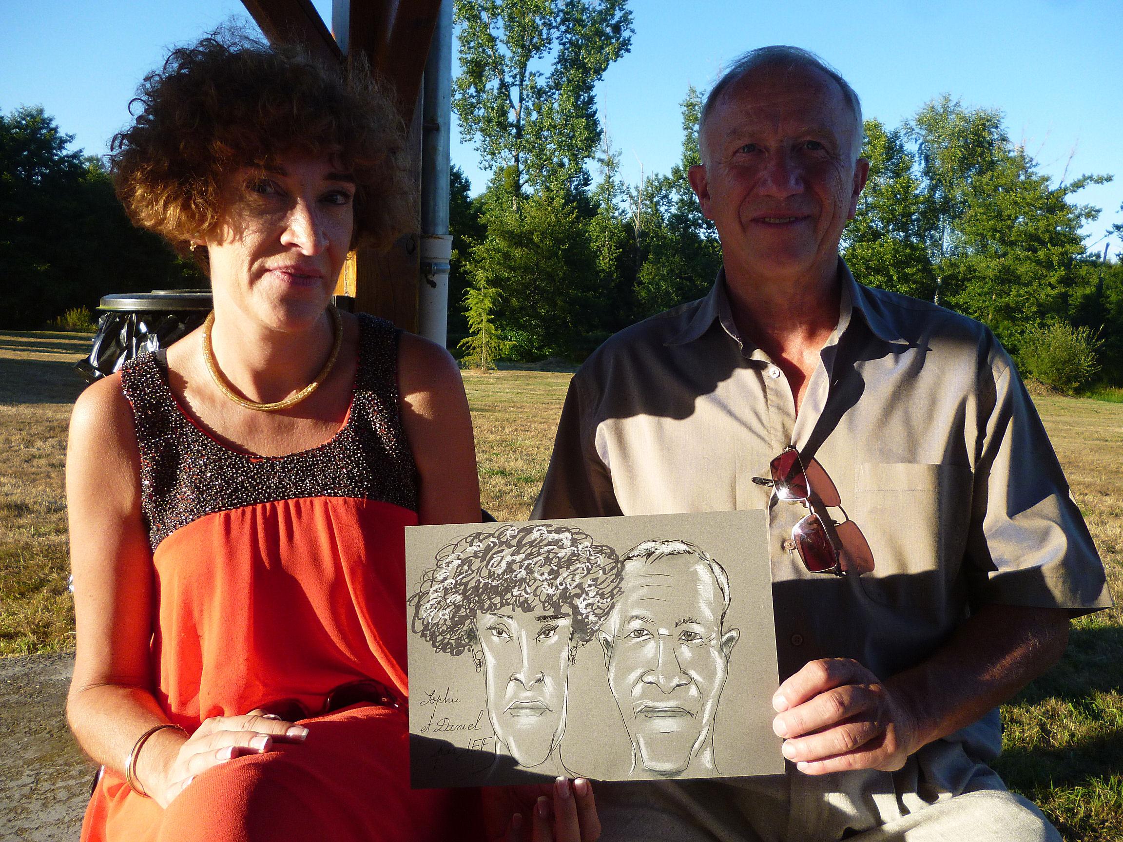 Sophie et Daniel caricature de JEF