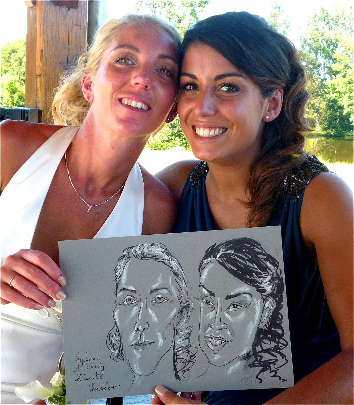 Stéphanie et Sandy amitié vendéenne caricature de JEF
