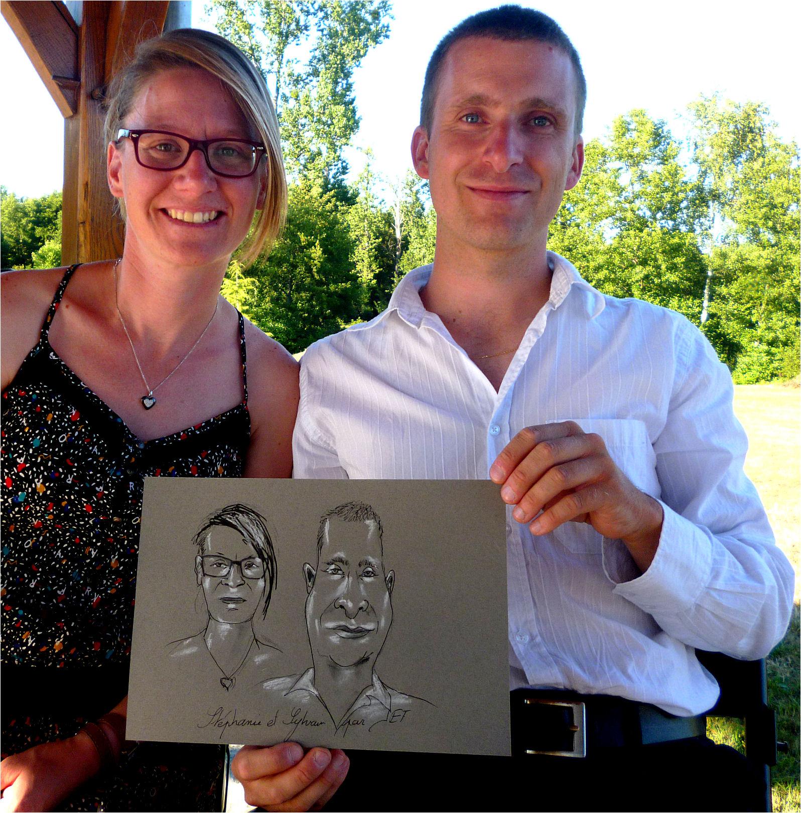 Stéphanie et sylvain caricature de JEF