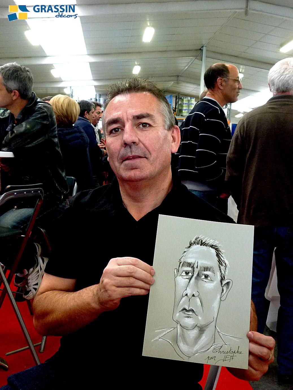 Christophe - Caricature par JEF