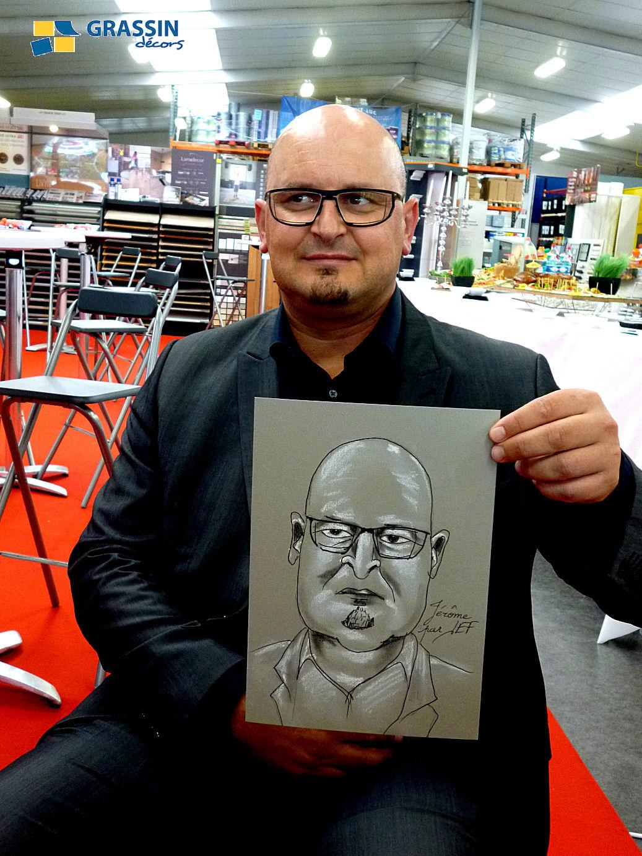 Jérôme - caricature par JEF