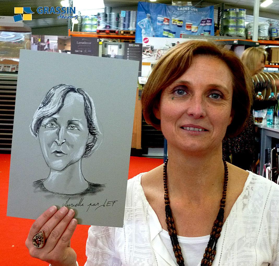 Murielle - caricature par JEF