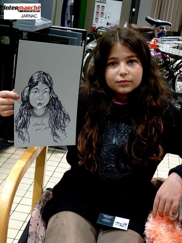 Amélia caricaturée par Jef