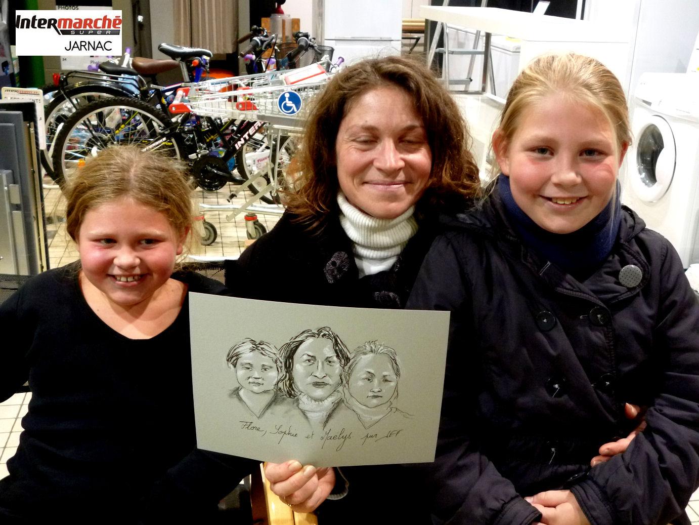 Flore, Sophie et Maëlys, caricaturées par JEF