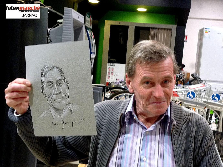 Jean-Yves, caricaturé par JEF