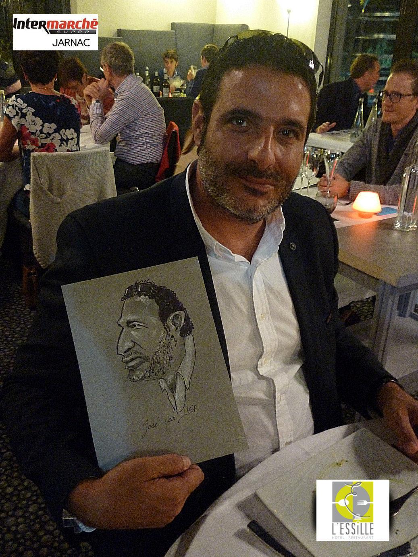 José Da silva directeur Intermarché Jarnac caricature par JEF