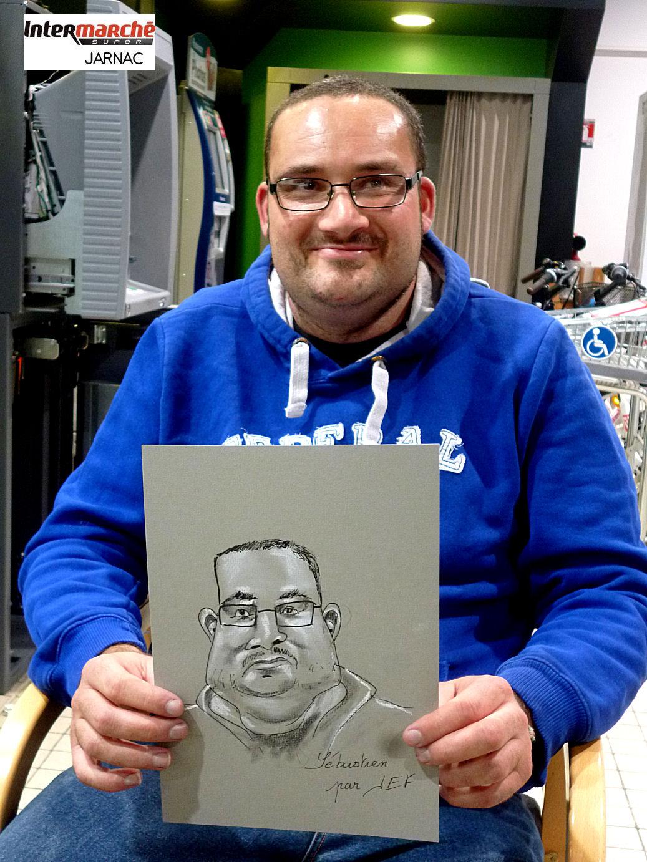 Sébastien, caricaturé par JEF