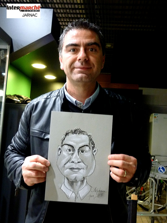 Stéphane caricaturé par JEF