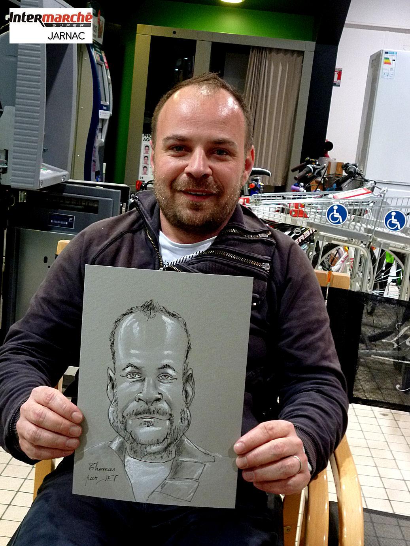 Thomas caricaturé par JEF