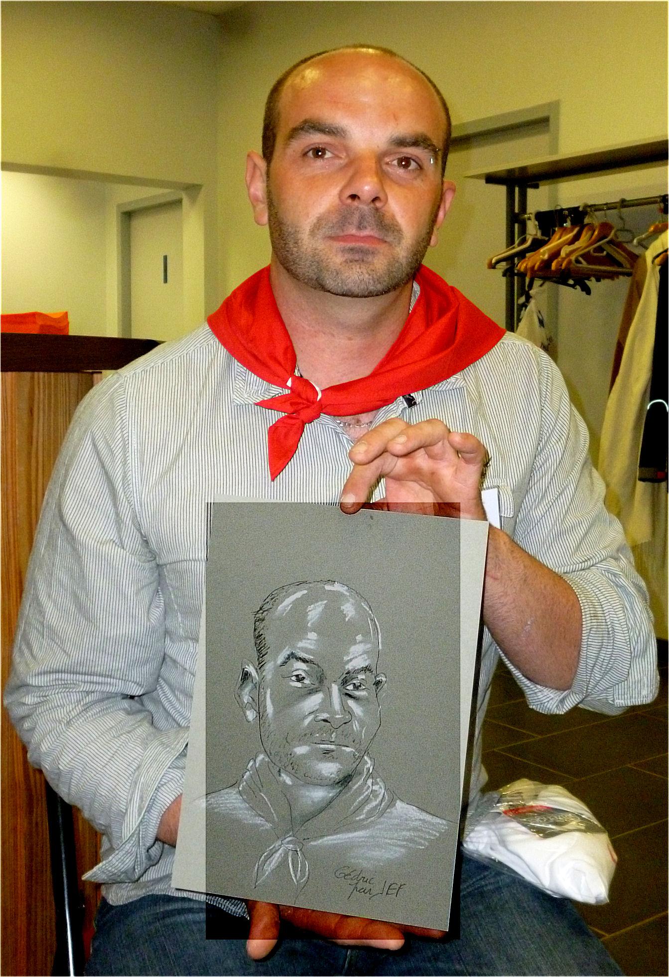 Cédric caricature par JEF