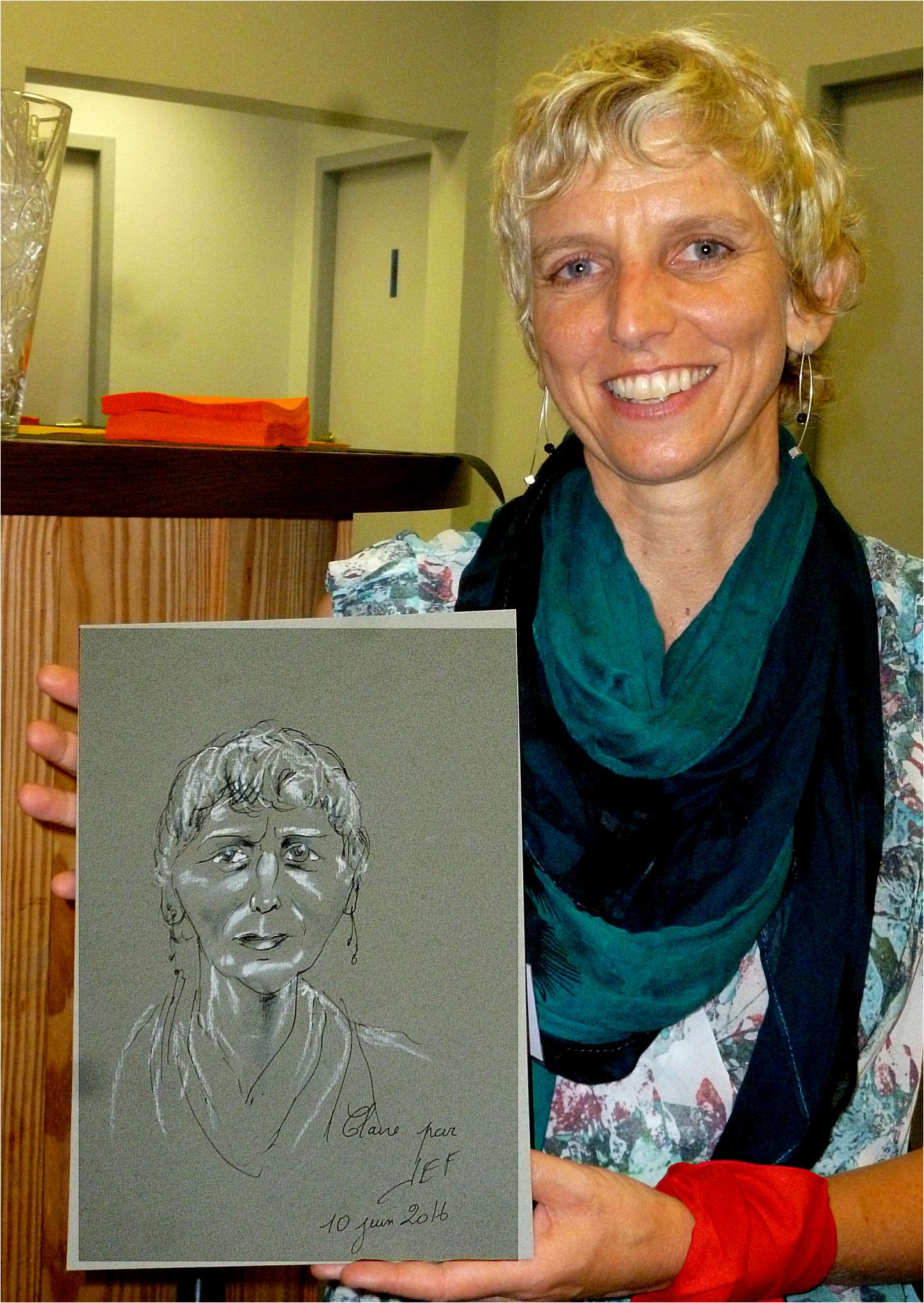 Claire caricature de JEF