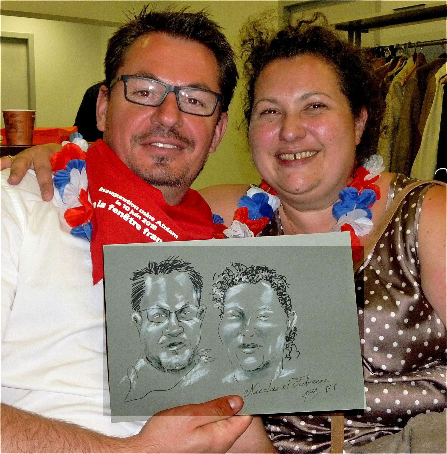 Nicolas et Fabienne caricature de JEF