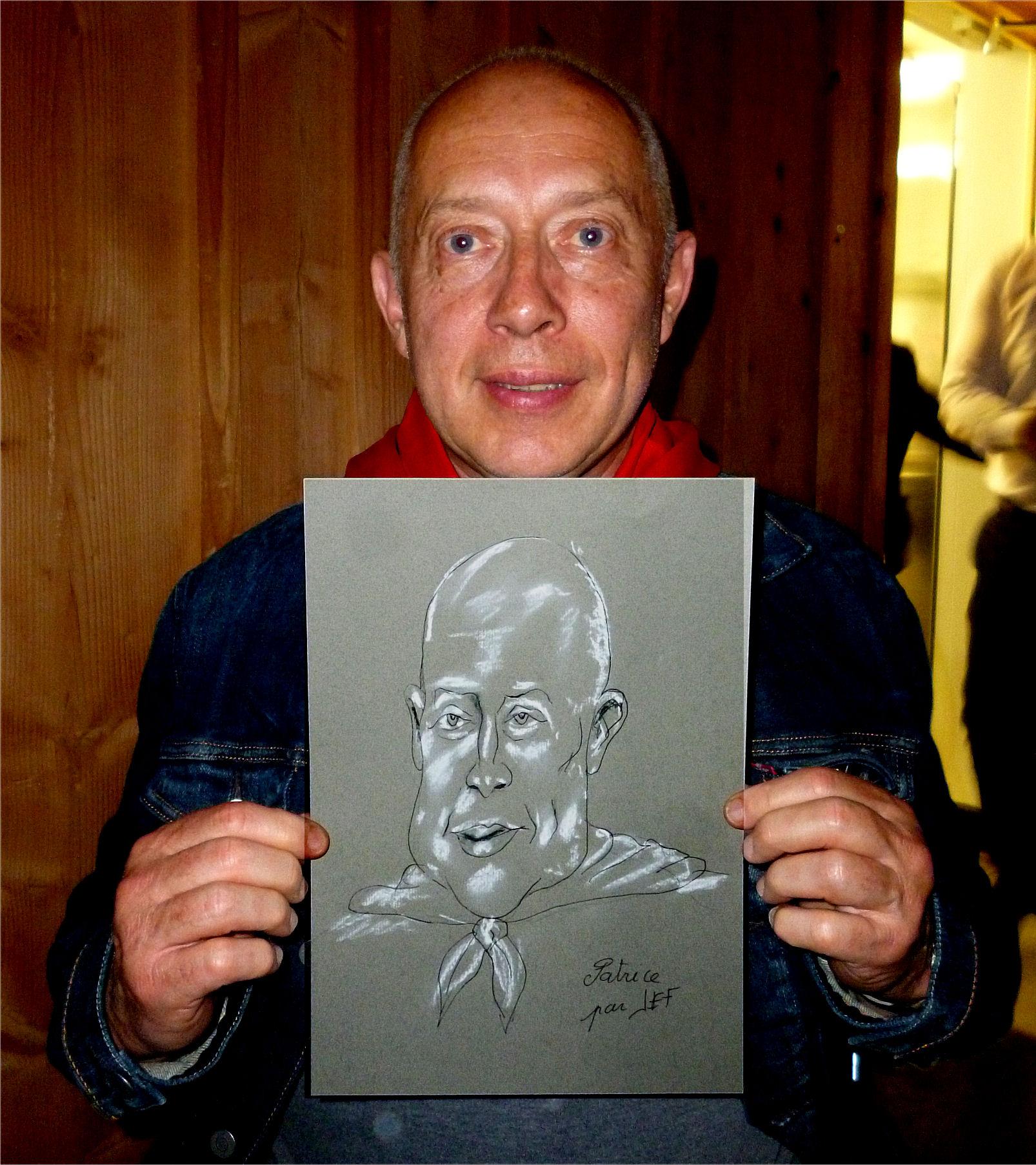 Patrice Trapon architecte à Aubusson caricature de JEF